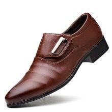 ce4f0fa21 الرجال اللباس أحذية مكتب OL نمط الرجال الرسمي الأحذية بو الجلود الفاخرة  أزياء العريس الزفاف أحذية