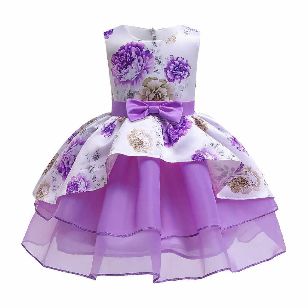 Ropa Para Niños Vestido De Niñas Floral Desfile De Damas De Honor Vestido De Fiesta De Cumpleaños Vestidos De Boda Para Niños 2 3 4 5 6 7 8 9 Años