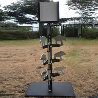 6 target boards (two wolves + two boars + two mice) Stand target with 10 paper targets Air gun shooting / paintball shooting