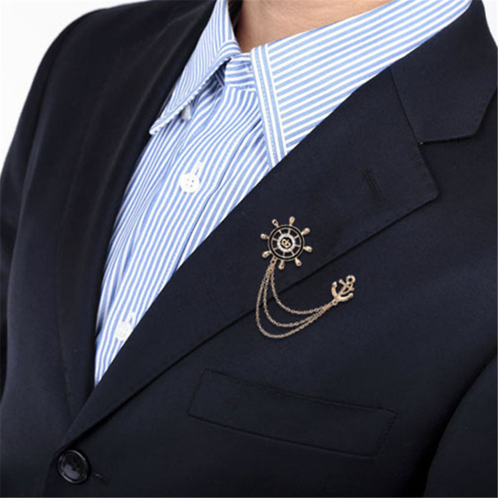 arrival item shield badge new coat suit vintage metrosexual retro brooch blazer men horse jewlery