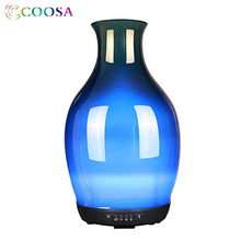 COOSA 3D Glass Vase Design Air Humidifier 250ml Essential Oils Diffuser Cool Mist Ultrasonic for Bedroom Office Gift