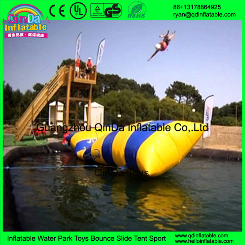 Quality assurance inflatable water catapult blob, the blob inflatable toy, water blob jump for sale blob blob big yellow