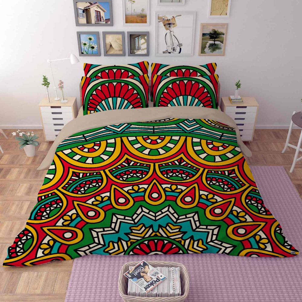 Bohemia National style bedding set twin/full/queen size elephant/camel boho duvet cover bed sheet pillow case free shipping