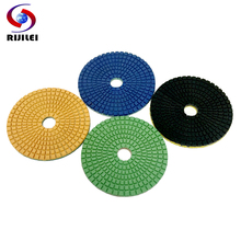 4Fanshaped Trapezoid teeth Flexible Wet Polishing Pads for granite and marble/+7pcs Wholesale (4DS3-1)