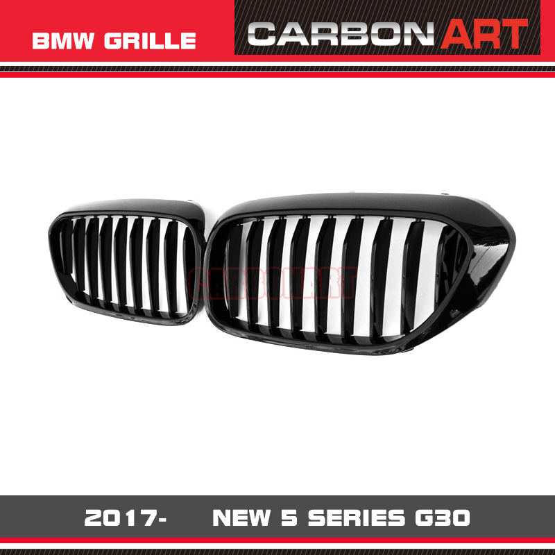 Brand New 5 Series G30 Grill Mesh Front Bumper Grille Glossy Black For BMW 520 530 540 525i M550i Racing One Slat Design 2017- car front bumper mesh grille around trim racing grills 2008 2013 for chery a3