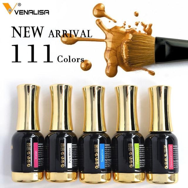 Venalisa Tempered Top Coat Nail Paint Gel 111 colors Platinum Gel Polish Nail Gel Soak Off UV Gel Polish Nail Lacquer Varnishes 4