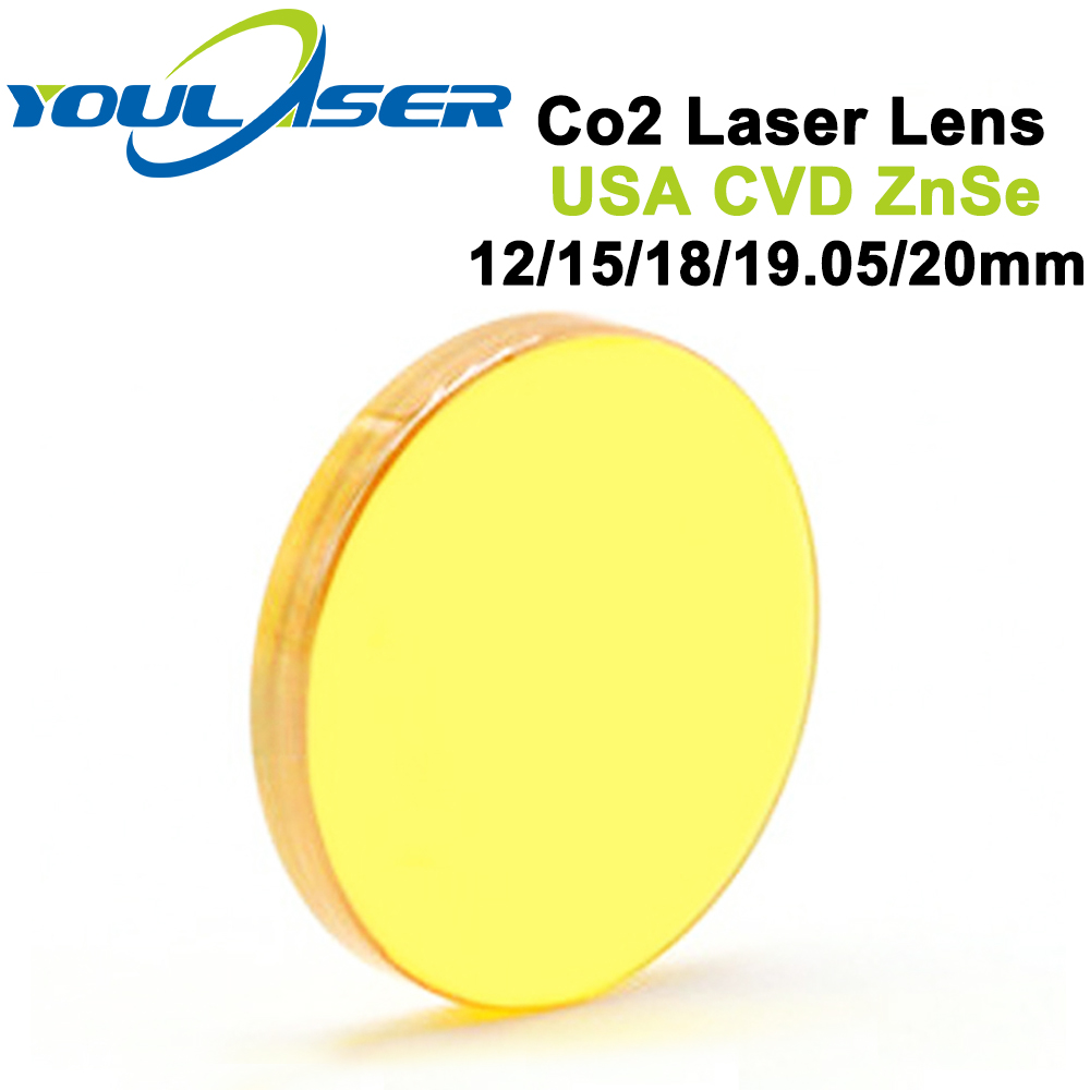 USA CVD ZnSe Laser Focus Lens Dia 12 15 18 19.05 20 FL 38.1 50.8 63.5 76.2 101.6 127mm for CO2 Laser Engraving Cutting Machine цена