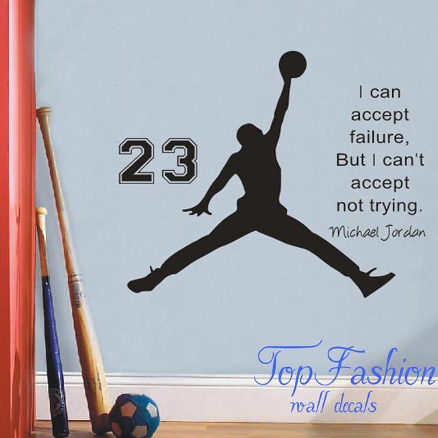 Michael Jordan Basketball Inspirational Wall Sticker Quotes Vinyl