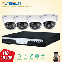 New Super 3MP Full HD 4 Channel 1920P Video Surveillance System Indoor Metal Dome Security Camera
