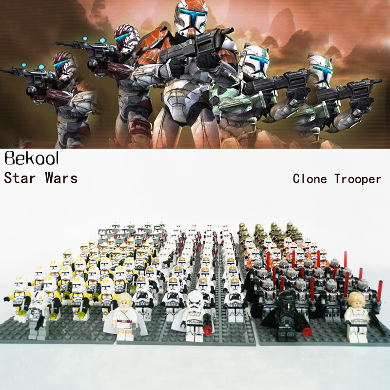 13PCS STAR WARS CUSTOM Clone Commanders Clone Trooper Captain SHOCK TROOPER Clone Solider Mini toys figs COMPATIBLE LEGOE blocks