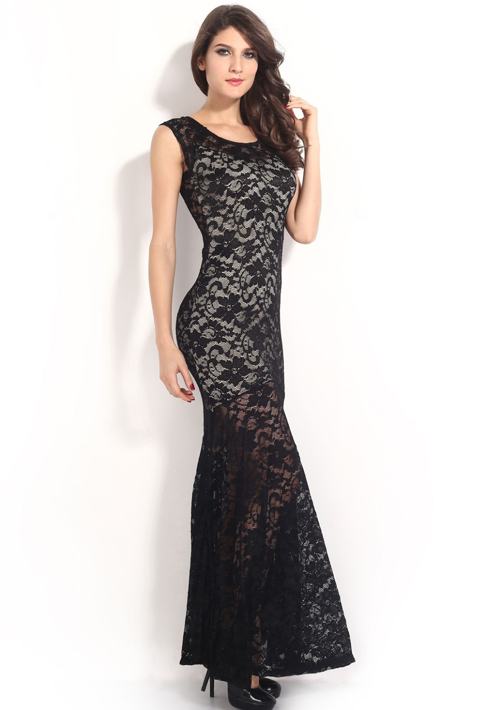 Two-toned-Sexy-Lined-Long-Lace-Evening-Dress-LC6350-15408