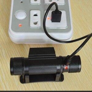 Image 2 - Mini lampe frontale grave froide, XML, haute puissance, Rechargeable par USB, lampe frontale, idéal pour la pêche, chasse, LED, ou Camping, 18650