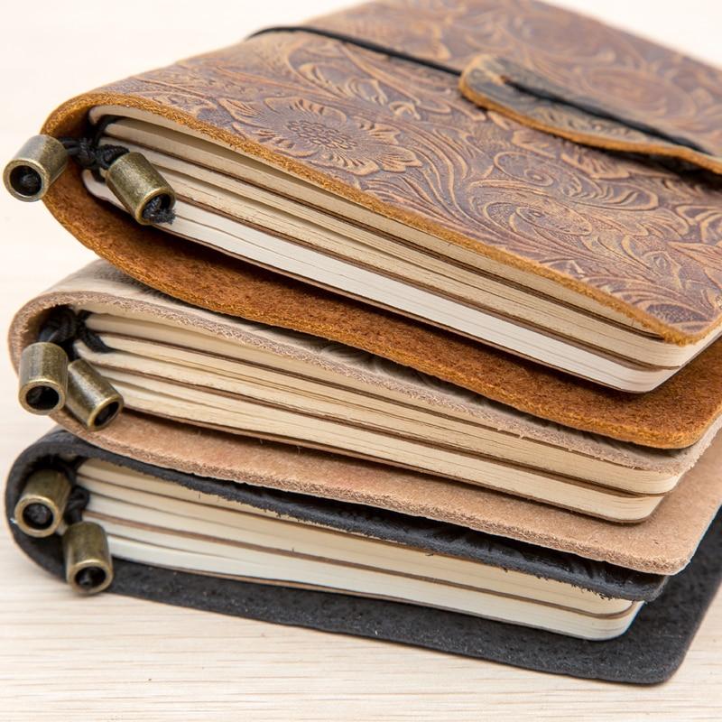 Retro Tie line handmade leather Sketchbook Bullet journal Notebook paper Weekly Planner Accessories Stationery Diary Agenda 1659 все цены