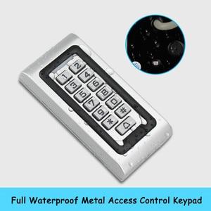 Image 2 - Комплект системы контроля доступа 125 кГц IP68, водонепроницаемая металлическая панель с радиочастотной клавиатурой + Электрический замок + Переключатель выхода двери, внешний источник питания