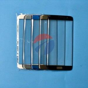 Image 5 - Ön Dış cam lens kapağı samsung için yedek Galaxy S6 Kenar G925 G925F S7 Kenar G935 G935F LCD cam ve B 7000 Tutkal & Aracı