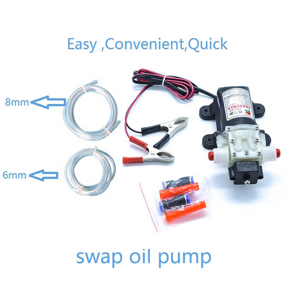 Профессиональный Электрический масляный насос 12 В, насос для перекачки дизельного топлива и моторного масла, бесплатная доставка, автомобильный всасывающий насос