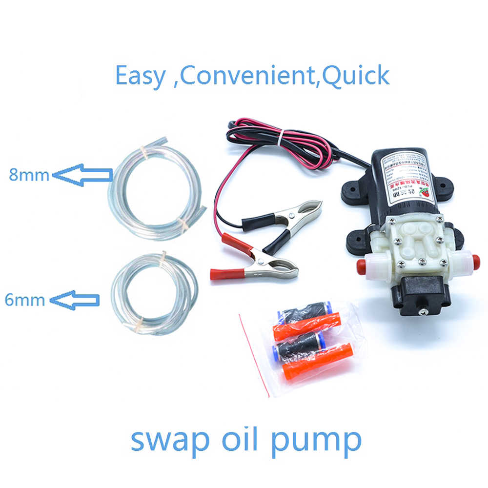 Professional Electric 12v Oil Pump Diesel Fuel Oil Engine Oil Extractor Transfer Pump Free Shipping Suction Pump Car