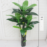 artificial plants greenery 140cm plastic tree home decoration artificial bonsai fake tree without pot