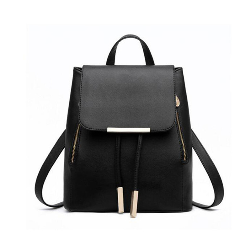 2018 New Backpack School Bags For Teenagers Girls Bag Women Backpack Top-handle Backpacks PU Leather Mochila Escolar Travel Bags nigedu women backpacks soft leather shoulder bag women s backpack school bags for teenagers girls mochila female travel bags
