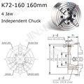 K72 160 4 Backen drehfutter Vier Kiefer Unabhängige Magnetspannplatte 160mm Manuelle für Schweißen Stellungsregler Turn Table 1PK Zubehör für drehmaschine|Chuck|Werkzeug -