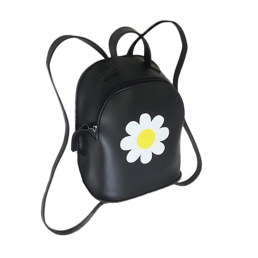 PU Leather Sunflower Mini Backpack Women Travel Shopping Backpack Zipper Mini Small Backpacks Casual Daypack Pack Backpacks #30