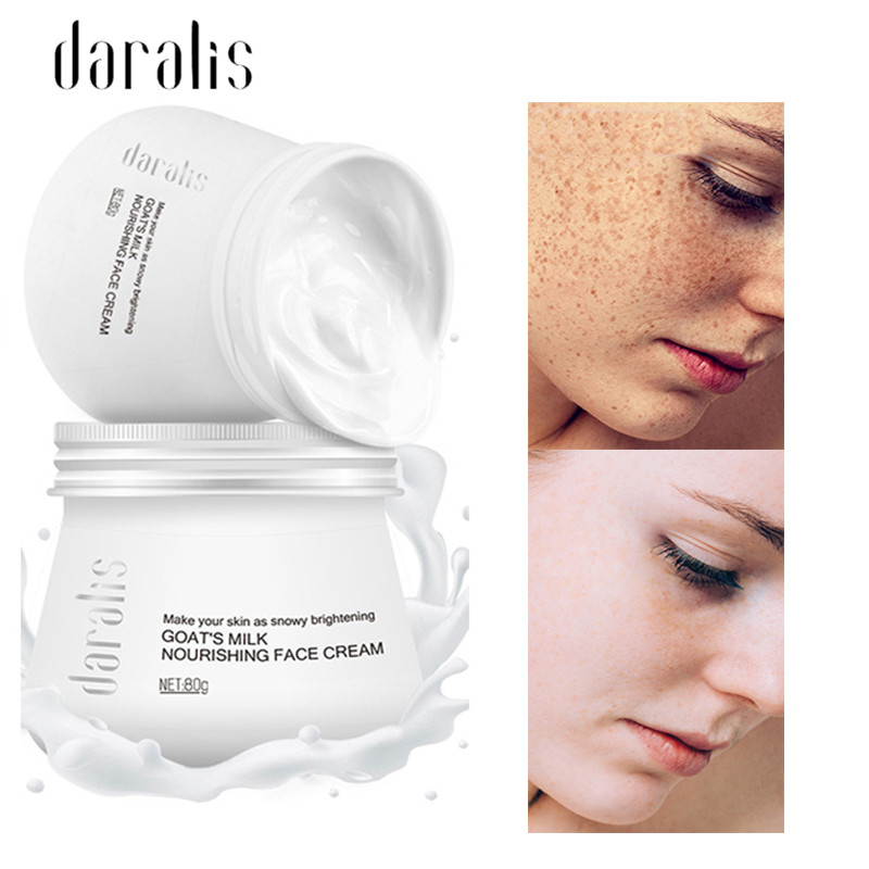 Daralis 80g Goat Milk Whitening Facial Cream Moisturizing Face Cream Anti Wrinkle Anti Aging Cream Snow Whitening Cream Face image