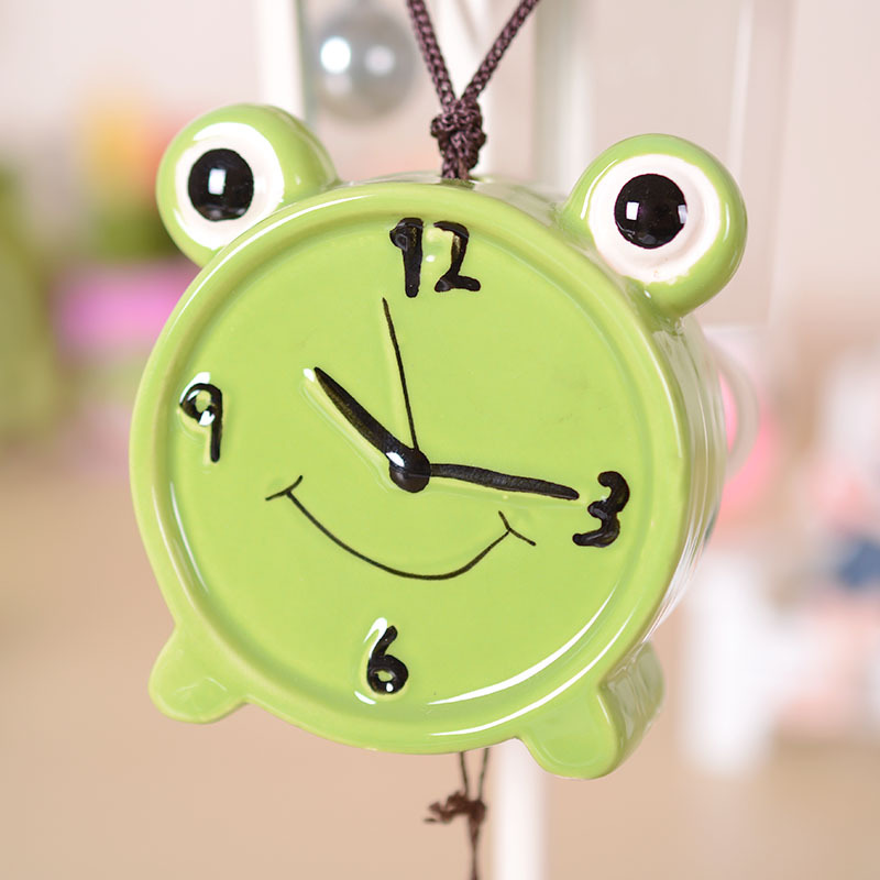 144pcs Lot Q1304 ZY7187 Alarm Clock Chimes With Interesting Creative Ceramic Greeting Card Ornaments Couple Birthday Gift