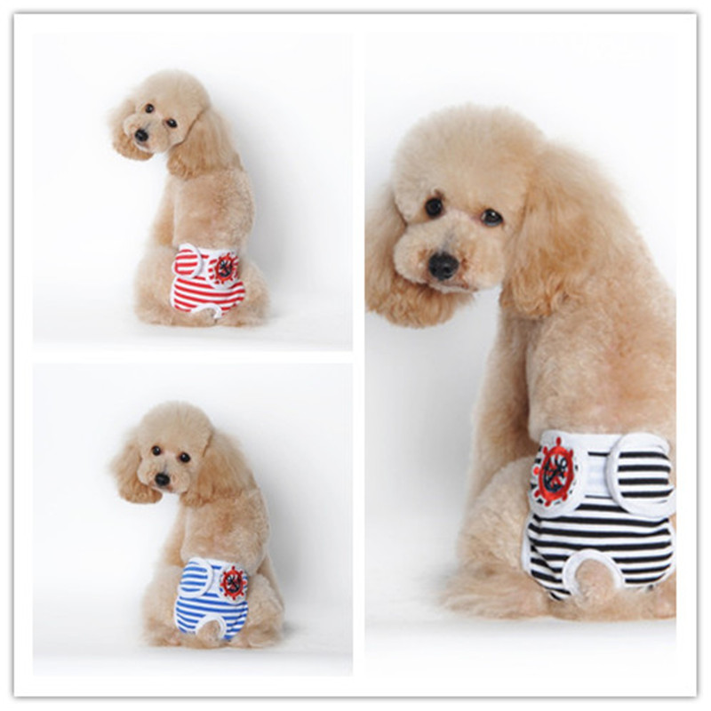 New Cute Pet Dog Physiological Pants Menstruation Pants For Female Teddy Underwear For Boy Dog Cat
