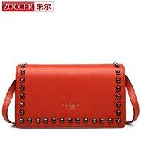 ZOOLER New Arrival Women S Fashion Rivet Design Genuine Leather Bag Shoulder Bag Popular Brand Ladies