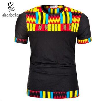 1f1e860db87 Shenbolen hommes Africains Vêtements pour l été T-shirt Classique Dashiki  Tops D été Grande Taille Homme Imprimer Blouses