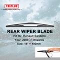 """Lâmina de Limpador traseiro para Renault Sandero (2009-Onwards) 1 pc 16 """"400mm, Traseira Do Carro Brisas, Janela traseira Pára Wiper Blades"""