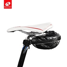 NUCKILY Road Bike Saddle Bag MTB Mountain Bicycle Seat Cycling EVA Waterproof  Tail Pouch Rear Package Black PL04