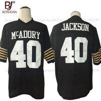 BONJEAN New Cheap American Football Jersey Bo Jackson 40 McAdory High School Football Jersey Throwback Black