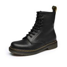 7b523a4a 2019 Мужские ботинки наивысшего качества спилок классический Dr сапоги  обувь Англии мотоциклетные осень-зима Мужская