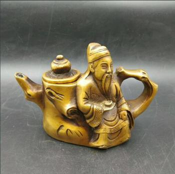 china  hand carved   The copper pot teapot decoration dignified atmosphere exquisite type Teapot