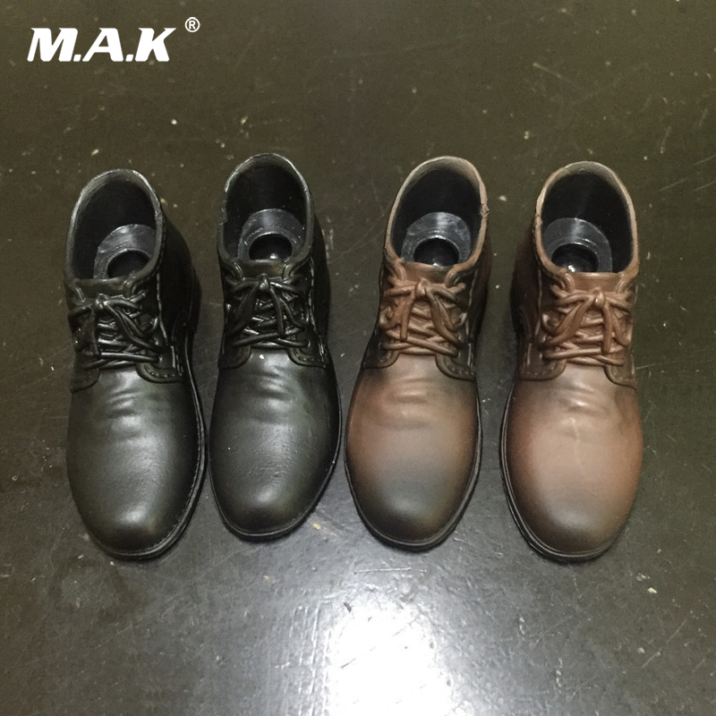 Plastic Brown Leather Shoes 1//6 scale Soldier Action Figure Cloth Accessories