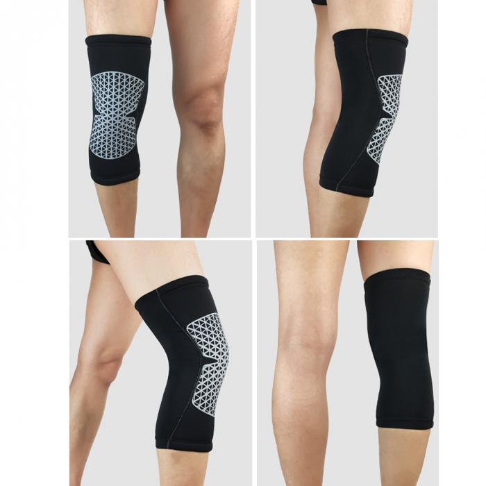 Knieschoner 1 Para M Größe Elastische Sport Knie Pads Unterstützung Klammer Wrap Beschützer Knie Pad Arthritis Verletzungen Gym Ärmel Bein Knie Liefert