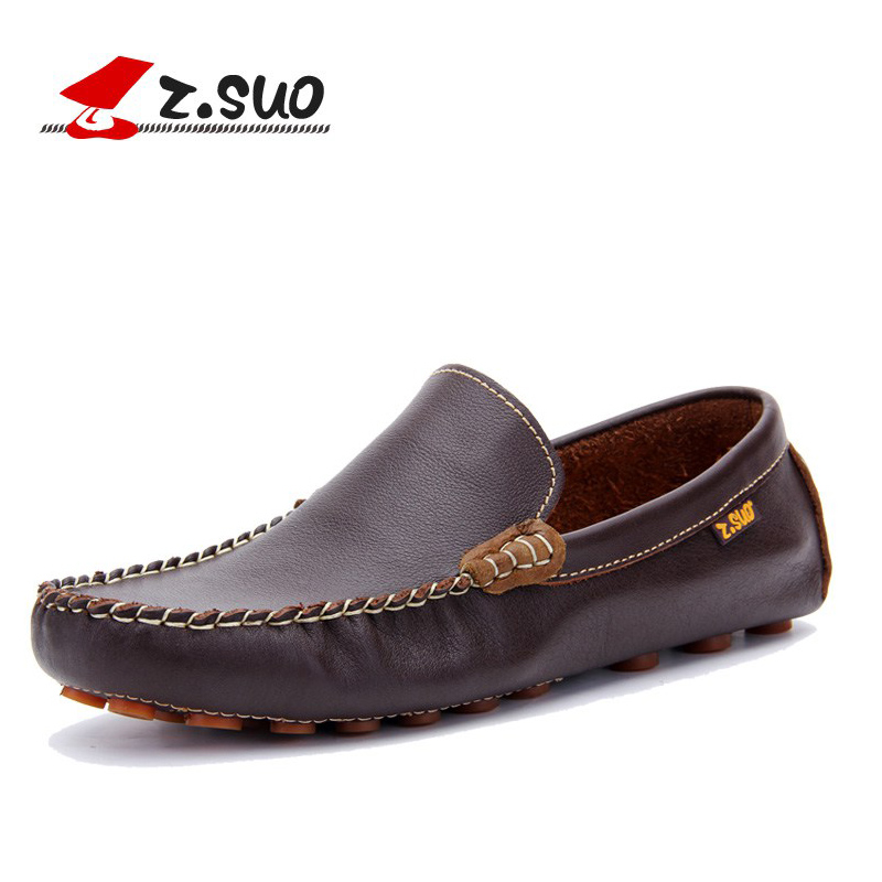 2017 Spring Black Brown Slip On Mesh Breathable Men Shoes Brand Genuine Leather Men Loafers Men's Casual Shoes Man Flats F01381d