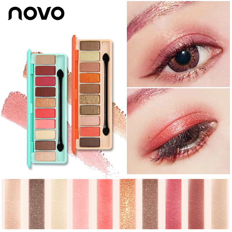 Brand Novo 10Color Eye Shadow Palette with Brush Shimmer Matte Eyeshadow Korea Cosmetic Non Dizzy Easy to Color Nude Eyes Makeup dizzy gillespie dizzy gillespie pleyel jazz concert 1948 colour