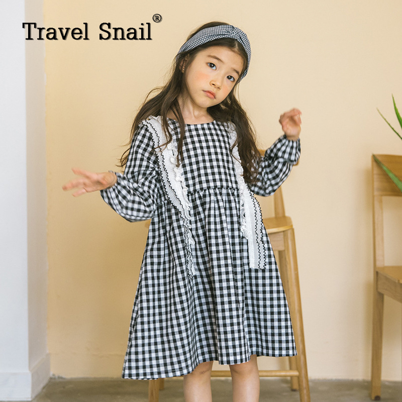 Travel snail 4-9yrs girls dress for kids costumes children dresses clothes for girls kids baby long sleeve dress 2018 Spring New 2017 girls princess dresses kids bridesmaids clothes long dress children red prom dress for party and wedding 4 5 6 7 8 9 10 yrs