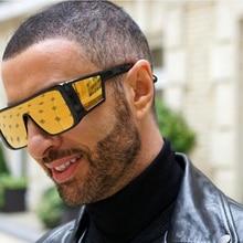 JackJad New Fashion Square Shield Style ATTICUS Sunglasses Women Men Cool Side L