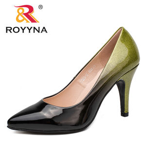 Image 3 - ROYYNA New Arrival Fashion Style Women Pumps Pointed Toe Women Shoes Shallow Lady Wedding Shoes Comfortable Soft Free Shipping