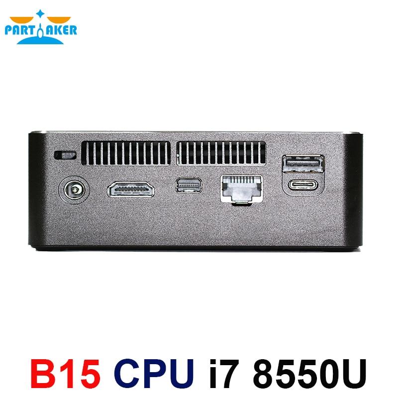 Image 3 - Partaker 8th Generation Intel Core i7 Processors i7 8550u Mini PC Windows 10 HDMI DP HTPC Graphics Max to 32GB Ram 512GB SSD-in Mini PC from Computer & Office