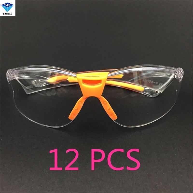 перчатки striking Free Shipping12 PCS High Quality PC Eye Protector Safety Glasses Labor Sand-proof Striking Resistant Dustproof Security Hot Sale