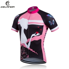 CELANDA 2016 New Beautiful Women Girls Cycling Jersey Cycling Clothing Maillot Ciclismo Sportwear Bike Clothes Breathable