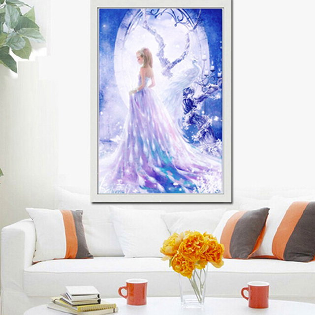 5D Diamond Painting Wedding Dress Bride Peacock Full Kit Drills Cross Stitch  Beading Embroidery Painting Wall Decor Bedroom 94cead78c336