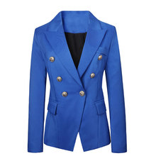 2016 Blaser Women Brand Fashion Blazer Slim Top Design Jacket Outerwear Double Breasted Cardigans Coat Work Wear  jacket