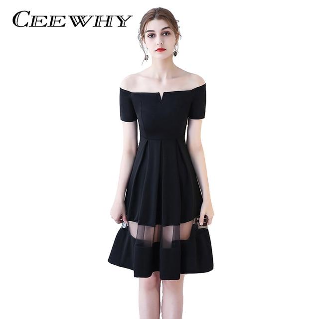Vestido de festa preto no joelho