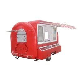 Można dostosować przyczepa do żywności mobilny wózek na żywność z żywnością wózek do kawy hot dog wózek na sprzedaż