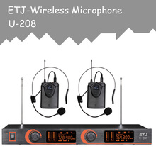 ETJ Model Skilled VHF Wi-fi Microphone Changable Handheld Bodypack Headset Lavalier Microphone U-208